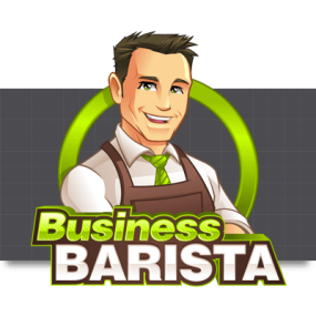 Cartoon Logo Design for BusinessBarista by MLJarmin Illustrations