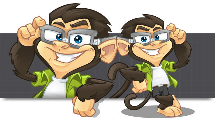 Mascot Design for Code Monkey by MLJarmin Illustrations