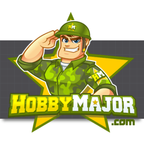 Cartoon Logo Design for HobbyMajor by MLJarmin Illustrations