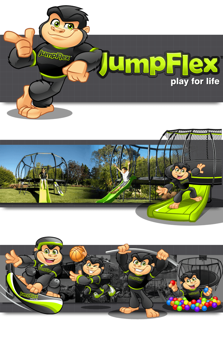 Web and Print Illustrations for JumpFlex by MLJarmin Illustrations