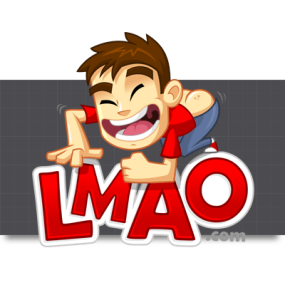 Cartoon Logo Design for LMAO.com by MLJarmin Illustrations