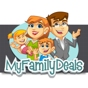 Cartoon Logo Design for MyFamilyDeals by MLJarmin Illustrations