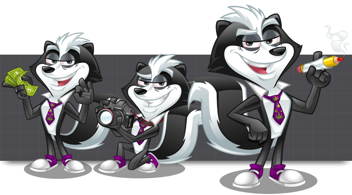 Mascot Design for SkunkCreative by MLJarmin Illustrations