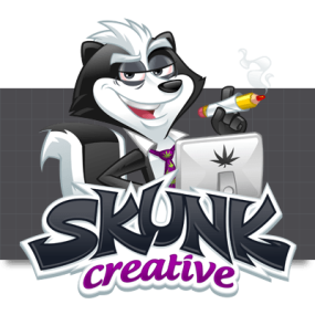 Cartoon Logo Design for SkunkCreative by MLJarmin Illustrations