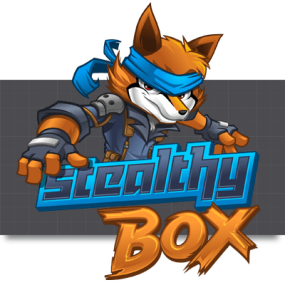 Cartoon Logo Design for StealthyBox by MLJarmin Illustrations