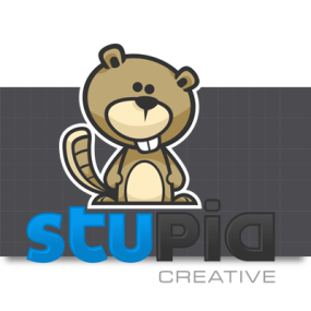 Cartoon Logo Design for StupidCreative by MLJarmin Illustrations
