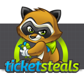Cartoon Logo Design for TicketSteals by MLJarmin Illustrations