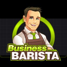 Cartoon Logo Design for BusinessBarista by MLJarmin Illustrations