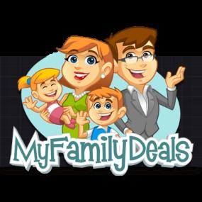 Cartoon Logo Design for MyFamilyDeals by MLJarmin Illustrations