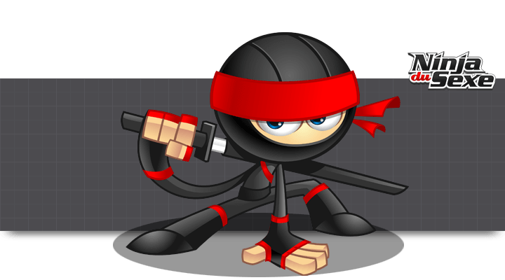 NINJA DU SEXE Mascot © Mark Lester Jarmin - Article Inspiration Illustration - Studio Karma - Graphiste Freelance