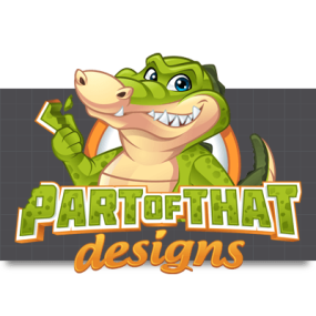 Cartoon Logo Design for PartofthatDesigns by MLJarmin Illustrations